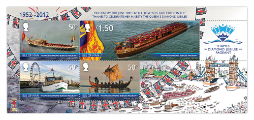 Diamond Jubilee Thames Pageant Miniature Sheet