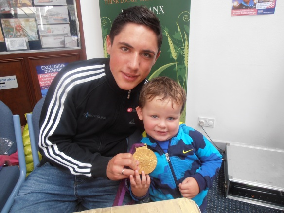 Peter Kennaugh and young fan