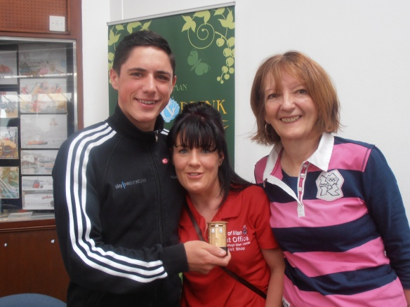Peter Kennaugh with Mirella Annis and Dot Tilbury
