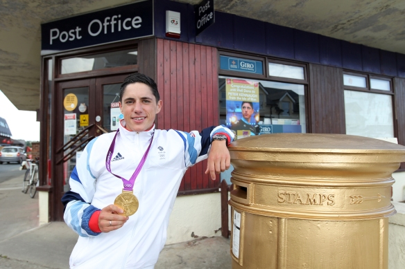Peter Kennaugh Gold Medal and Postbox