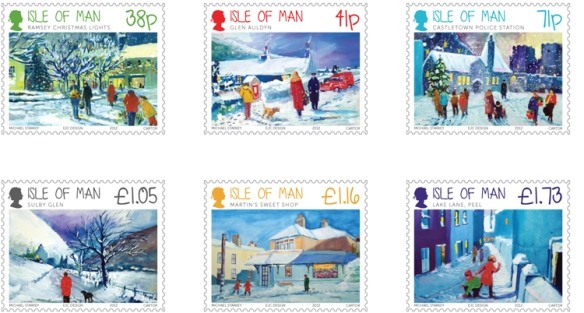 IOMPO Michael Starkey Christmas Stamps