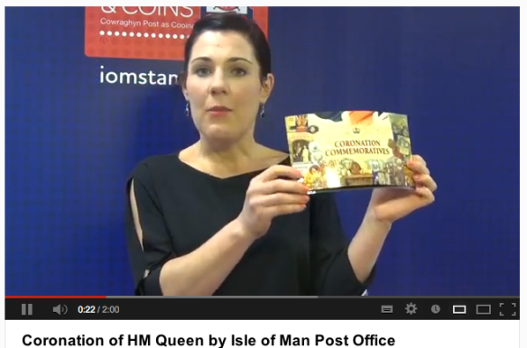 Coronation of HM Queen by Isle of Man Post Office